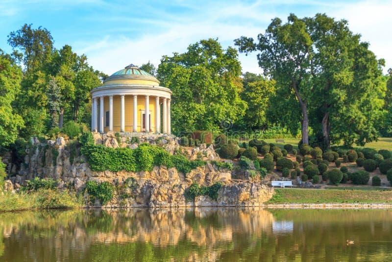Park of Esterhazy Palace, Leopoldina Temple stock photography