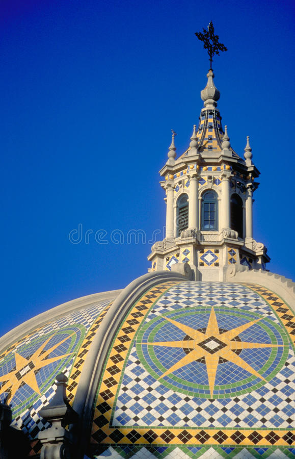 park för balboaKalifornien kupol royaltyfri fotografi