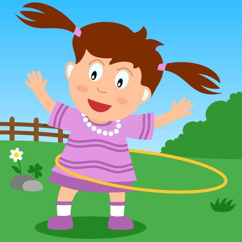 park för flickabeslaghula vektor illustrationer