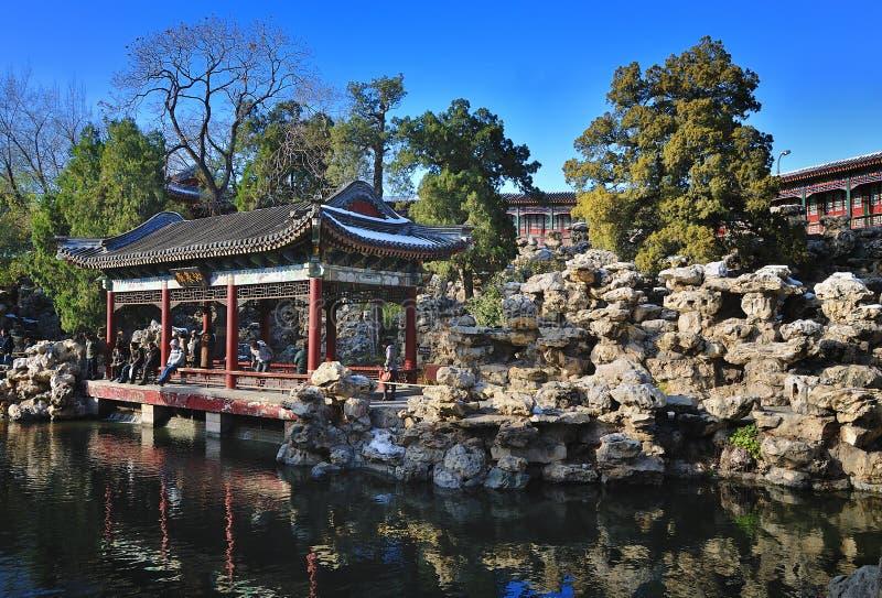 park för trädgård för beihaibeijing porslin royaltyfria bilder
