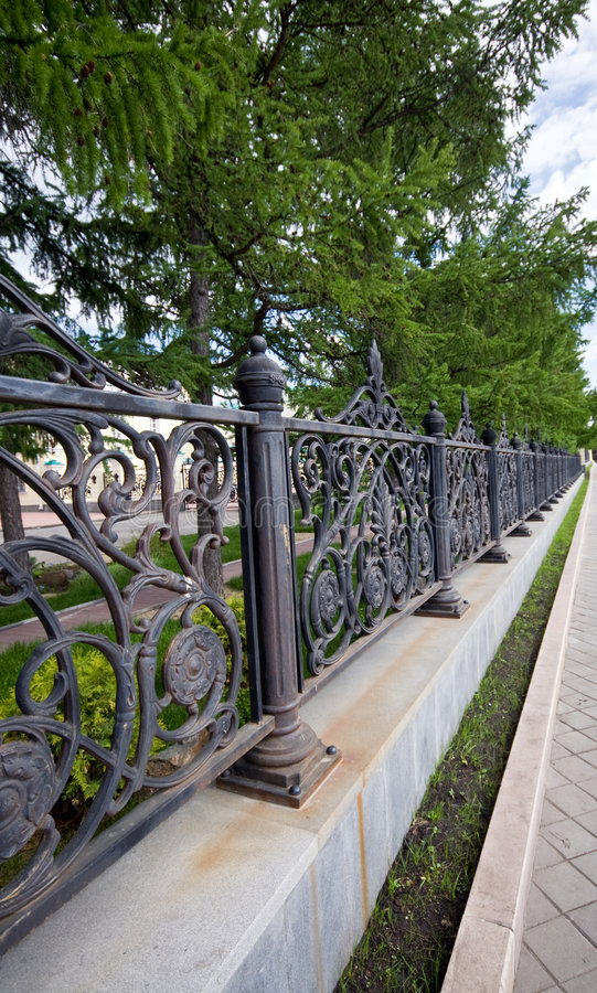 Park Fence Royalty Free Stock Image