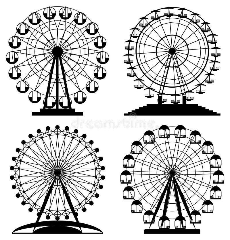 vector park ferris wheels royalty free illustration