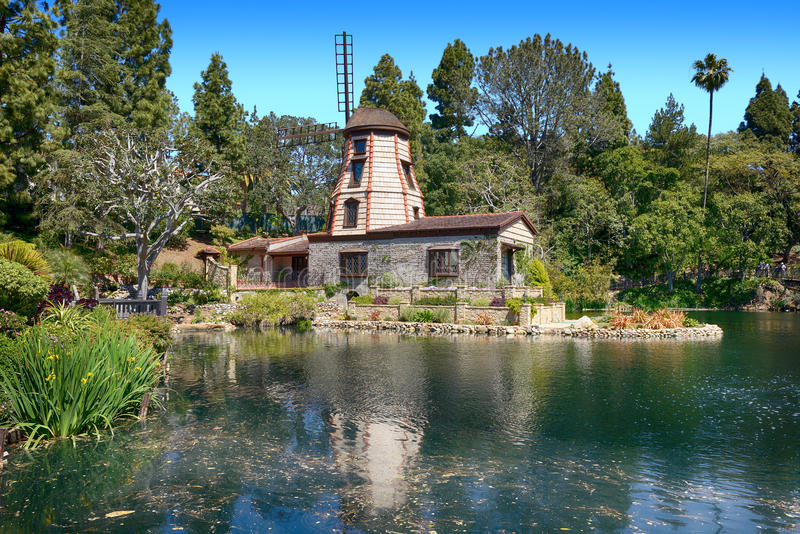 Park of five religions at the Lake Shrine. The garden of meditation in Santa Monica, United States. Park of five religions at the Lake Shrine royalty free stock images
