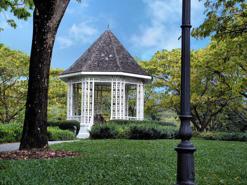 Park Garden Pavilion Royalty Free Stock Image