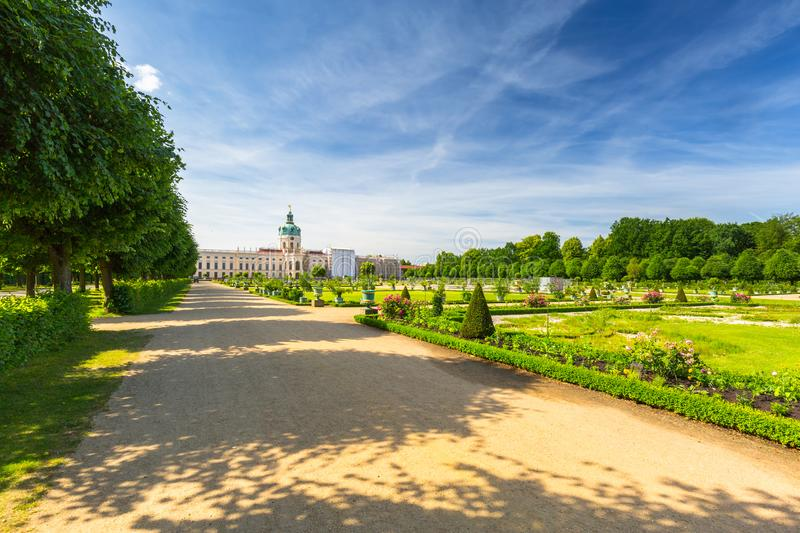 The park and gardens of Charlottenburg in Berlin, Germany. Palace, castle, architecture, europe, old, facade, travel, building, landmark, tower, famous royalty free stock photos