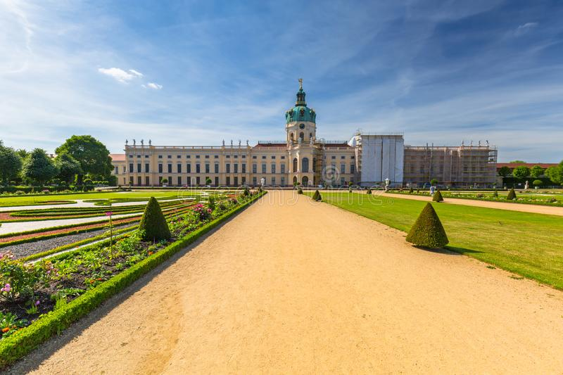 The park and gardens of Charlottenburg in Berlin, Germany. Palace, castle, architecture, europe, old, facade, travel, building, landmark, tower, famous stock photos