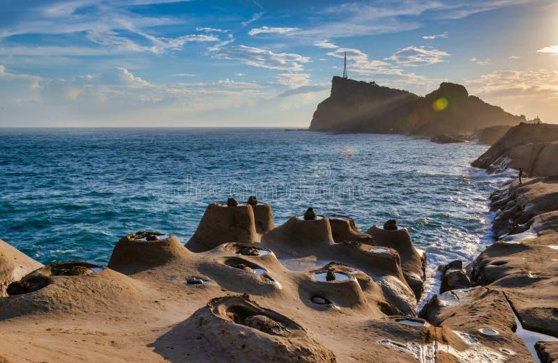 Park Geologiczny Yehliu,Tajpej,Tajwan obrazy stock