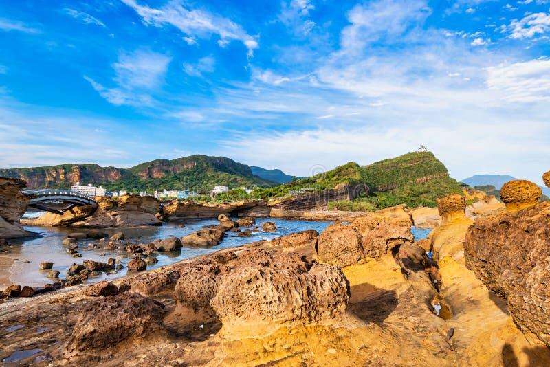 Park Geologiczny Yehliu,Tajpej,Tajwan zdjęcie royalty free