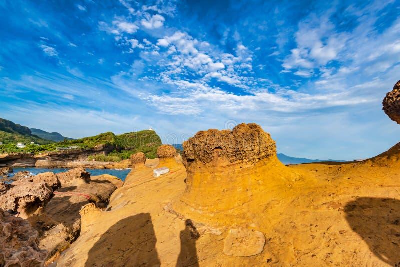 Park Geologiczny Yehliu,Tajpej,Tajwan fotografia stock