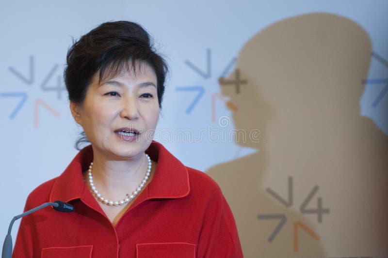 Park Geun-hye photo stock