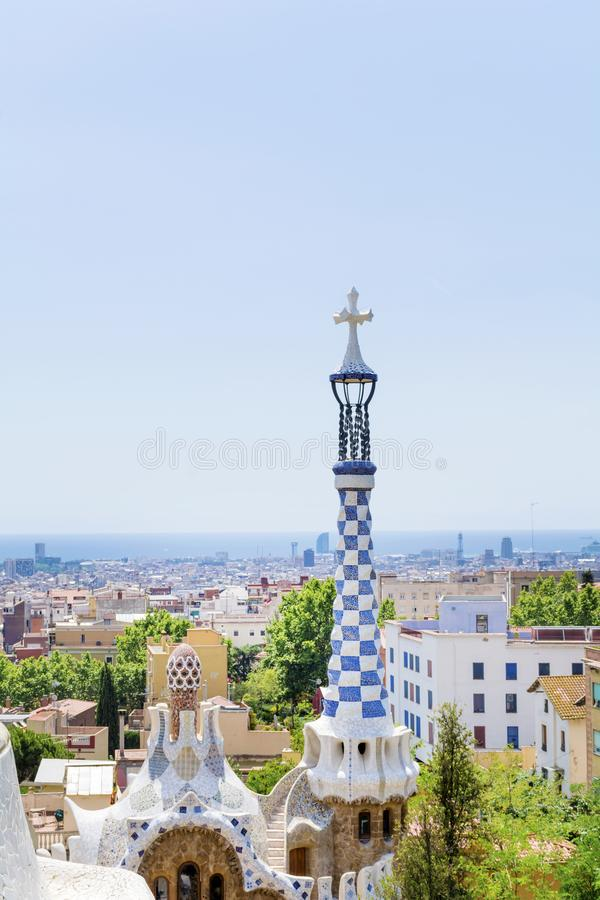 Park Guel,Barcelona,Spain. Park Guel public park ,Barcelona,Spain royalty free stock image