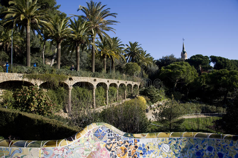 Download Park guell stock image. Image of architecture, place - 12825019