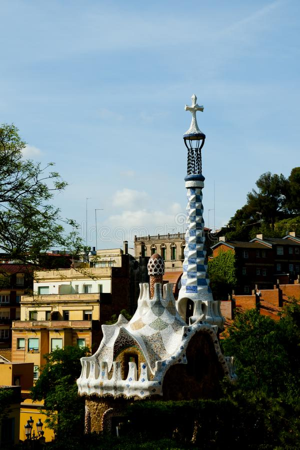 Park Guell stockfoto