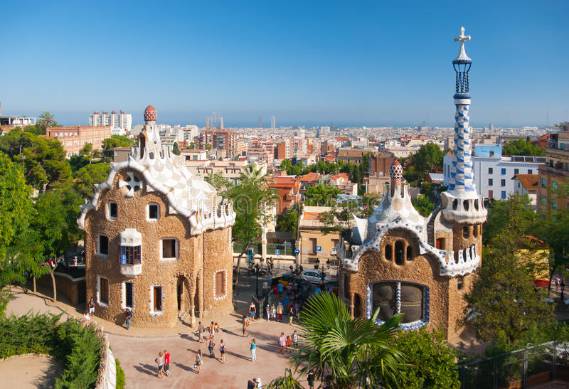 Download Park Guell editorial stock image. Image of cityscape - 18256704