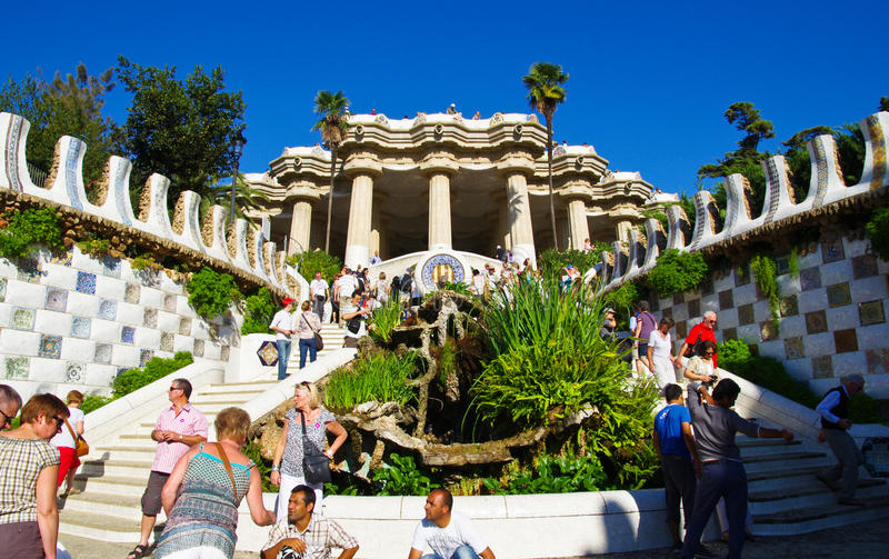 Download Park guell editorial photography. Image of barcelona - 21813082