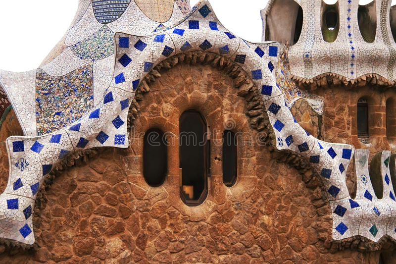 Park Guell. stock afbeelding