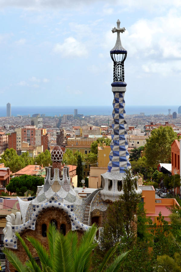Download Park Guell Antoni Gaudi Royalty Free Stock Images - Image: 27068899