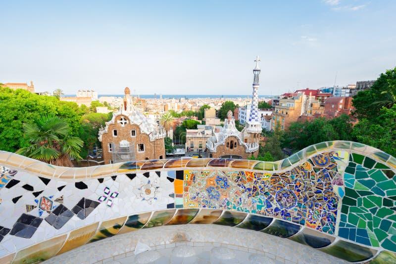 Park Guell, Barcelona lizenzfreie stockfotografie
