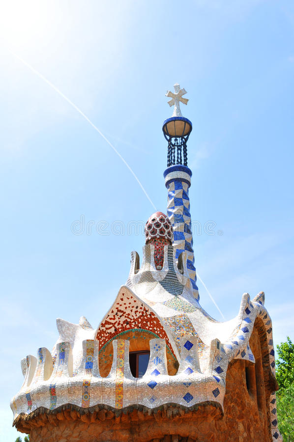 Download Park Guell, Barcelona stock photo. Image of house, artistic - 25874356