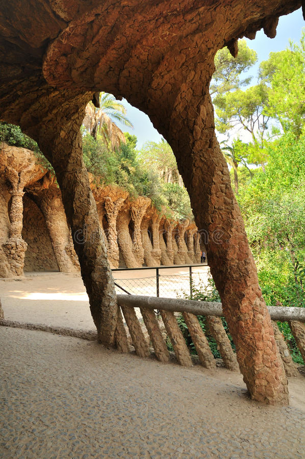 Park Guell. Barcelona. royalty free stock image