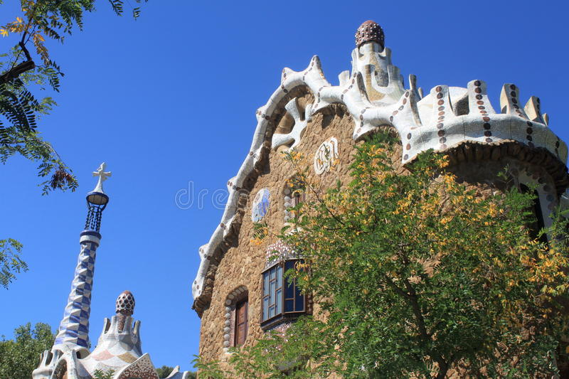 Park Guell in Barcelona stock photography