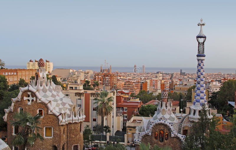 Park Guell Barcelona royalty-vrije stock afbeelding