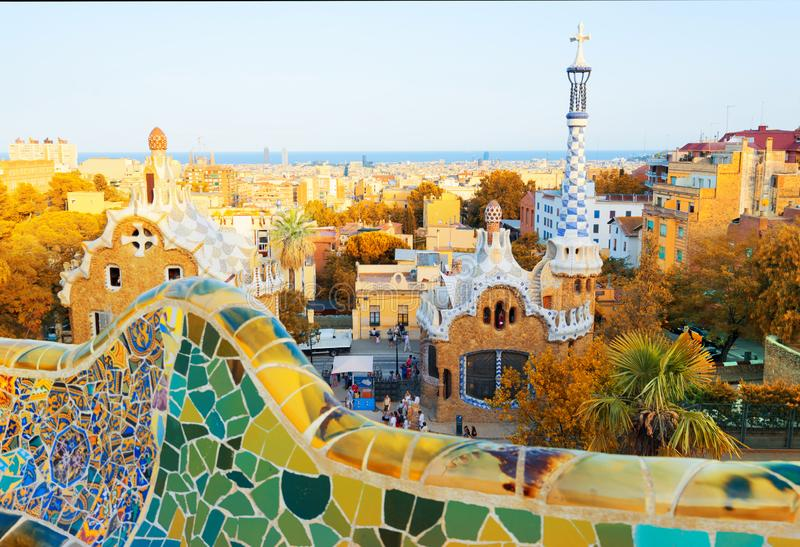 Park Guell, Barcelona stock foto