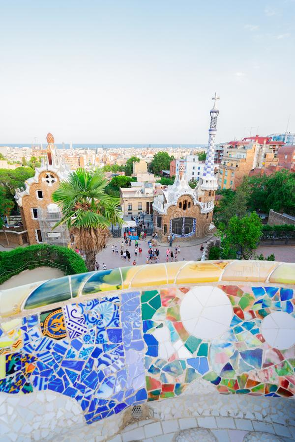 Park Guell, Barcelona stock afbeeldingen