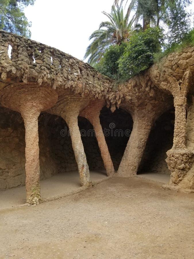 Park Guell Barcelona - erstaunliche Ansichten! stockfotografie