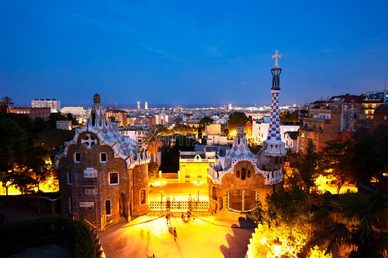Park Guell, Barcelona royalty-vrije stock afbeelding