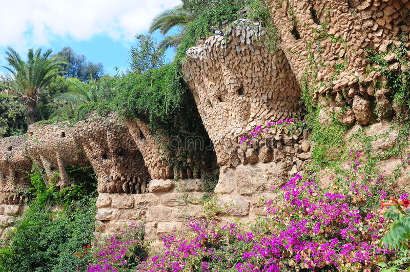 Download Park Guell In Barcelona, Spain Royalty Free Stock Image - Image: 13659226