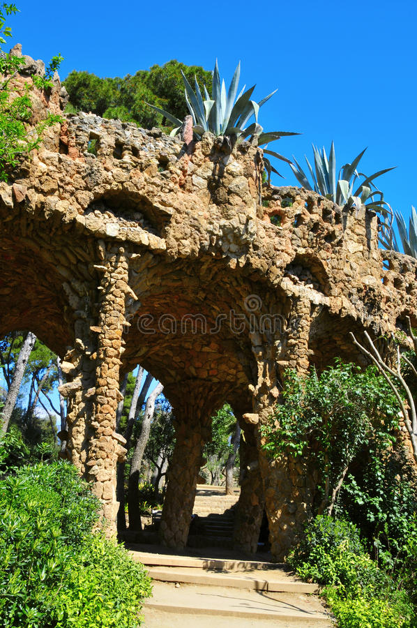 Download Park Guell, Barcelona, Spain Editorial Stock Image - Image of modernism, picturesque: 19085574