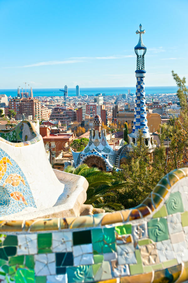 Download Park Guell In Barcelona, Spain. Stock Photo - Image: 23850062