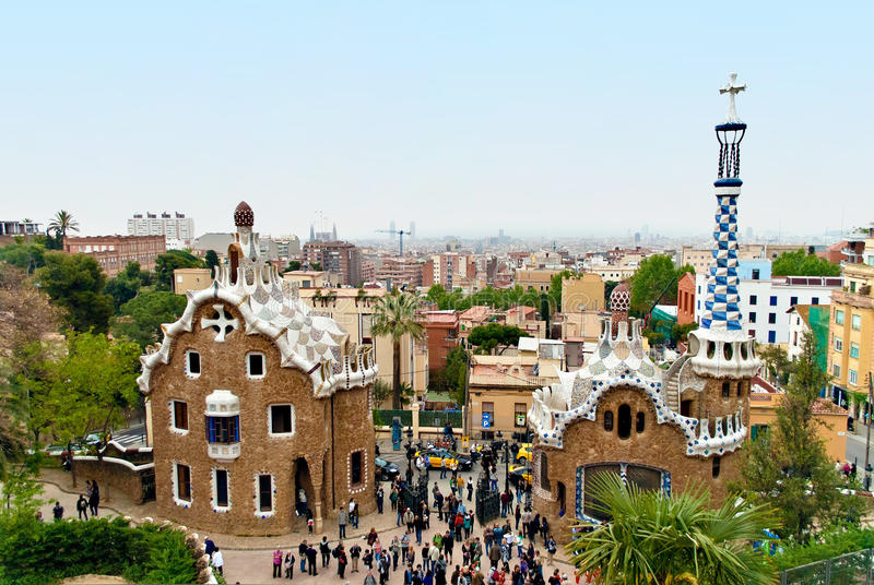 Download Park Guell, Barcelona - Spain Editorial Photography - Image: 28486192