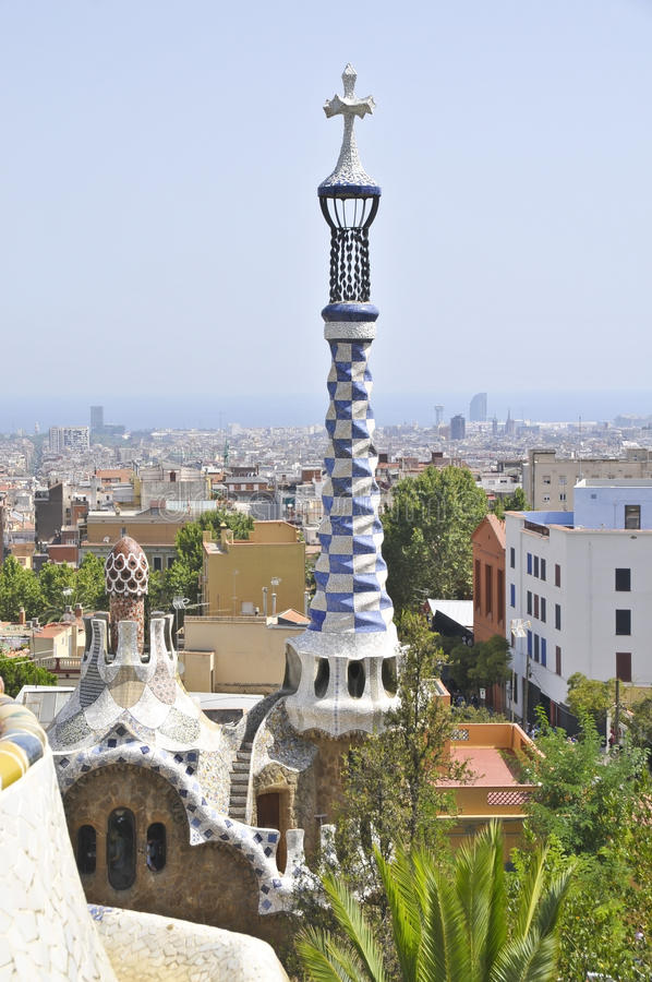 Park Guell, Barcelona royalty free stock photography