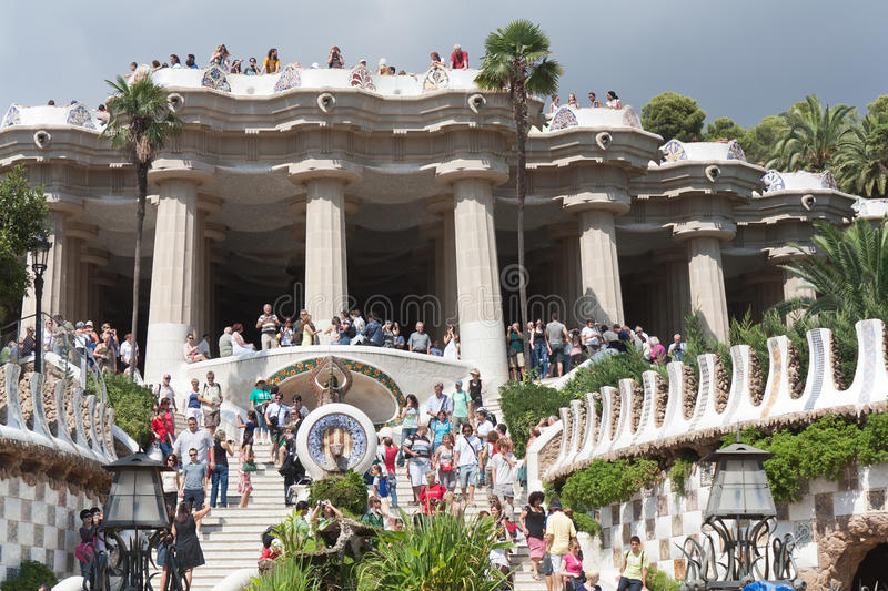 Download Park Guell From Bottom Point. Editorial Stock Photo - Image: 21251803