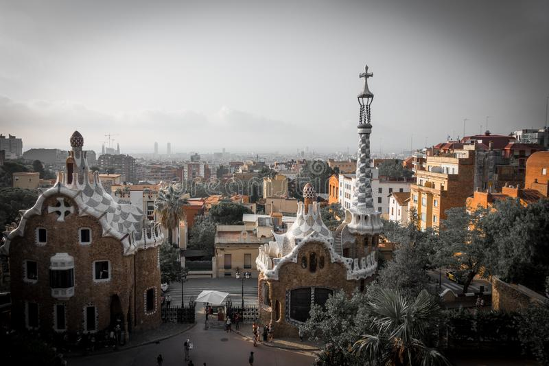 Park guell colors in Barcelona, Spain. royalty free stock photography