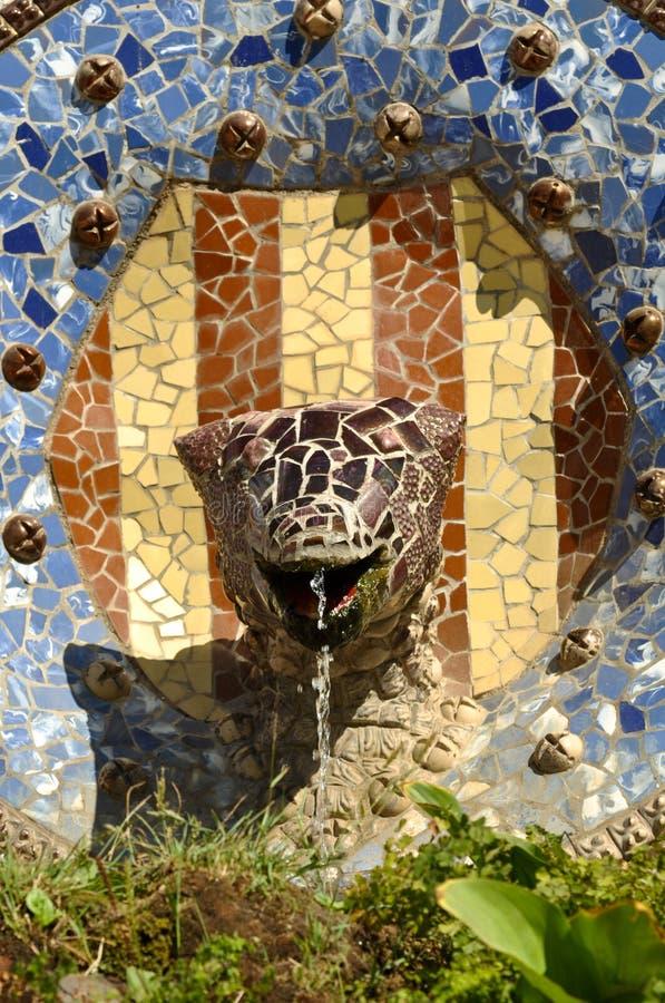Park Guell Eidechse in Barcelona Spanien stockbilder