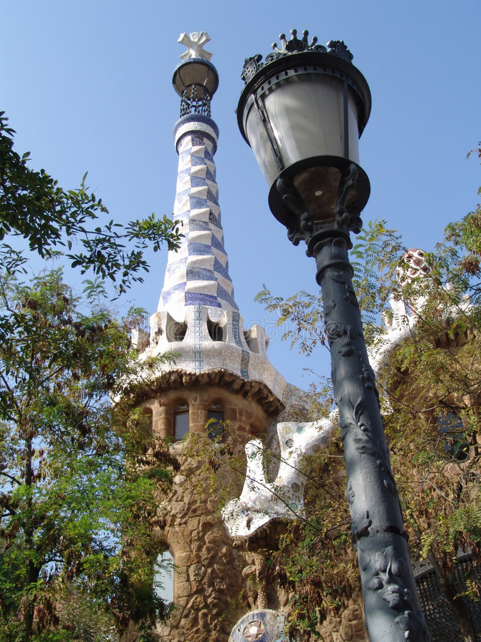 Park guell entrance royalty free stock image