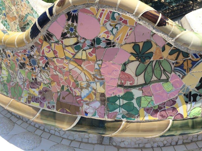 Park Guell-Mosaiken lizenzfreie stockbilder