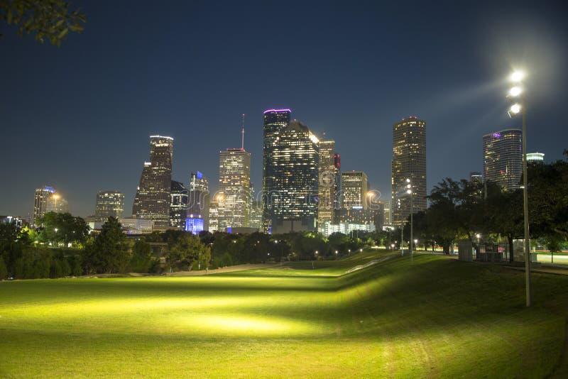 Park het van de binnenstad van de buffelsbayou van Houston royalty-vrije stock fotografie
