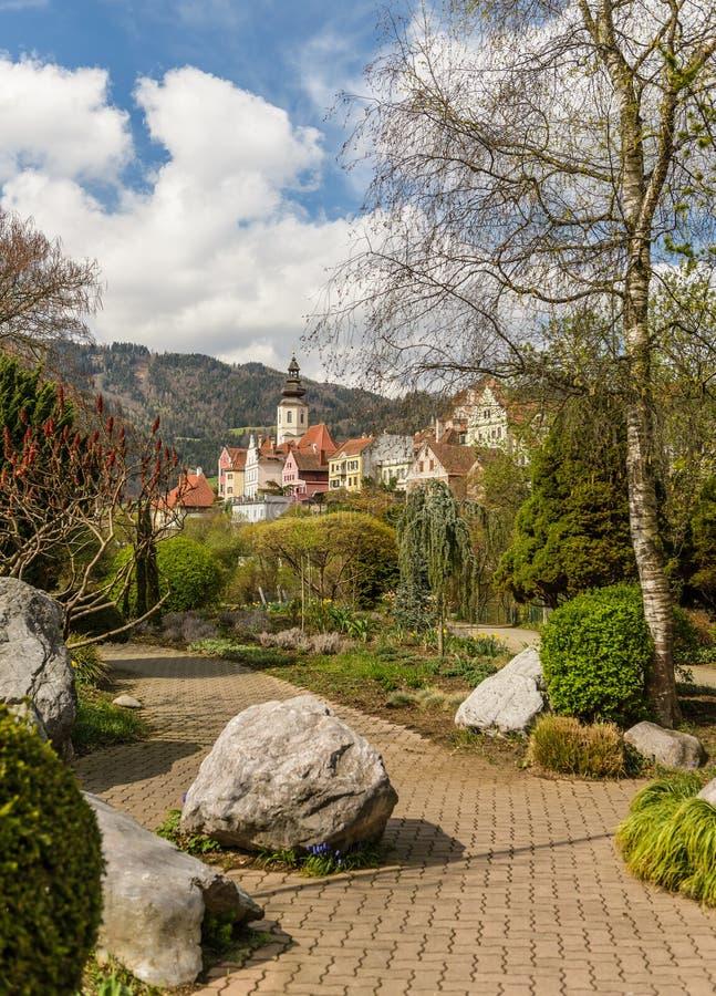 Park in het voorjaar royalty-vrije stock afbeeldingen