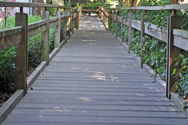 Park houten brug, houten brug, balustrade, het leven, houten brug, fujian quanzhou, brug, verkeer, tekens, omheining, bescherming royalty-vrije stock foto's
