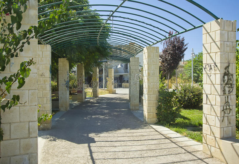 Park i Chania, Crete, Grekland arkivbild