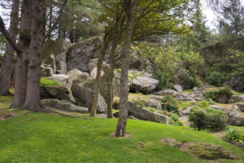 Park i natura w Skudeneshavn obrazy stock
