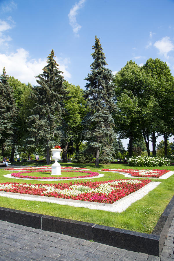 Park im Kreml, Moskau lizenzfreies stockbild