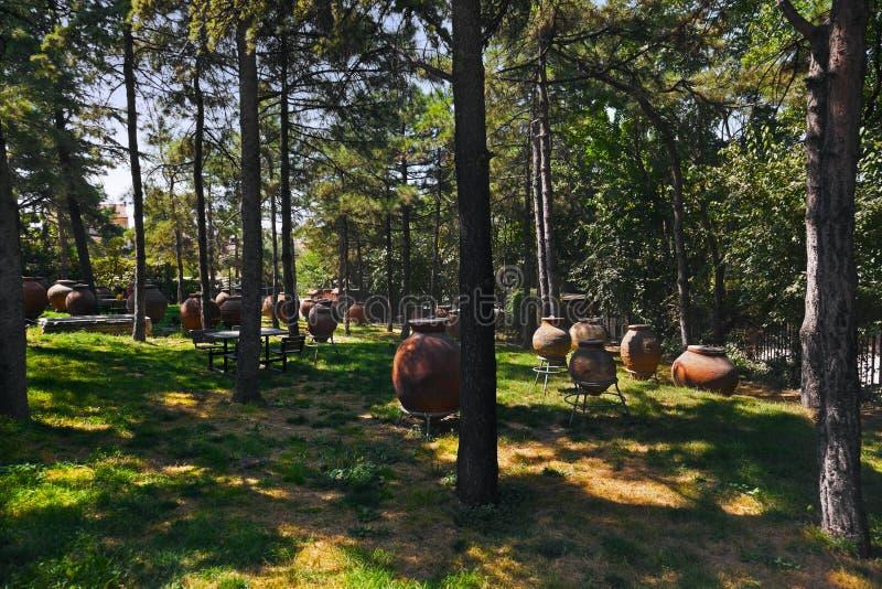 Park im Museum von anatolischen Zivilisationen (Ankara die Türkei) stockbilder