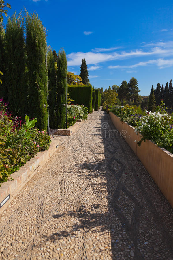 Free Park In Alhambra Palace At Granada Spain Royalty Free Stock Photography - 30333057