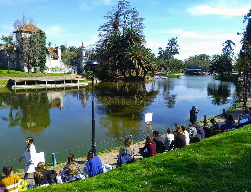 Park Jose Enrique Rodo, Montevideo, Urugwaj zdjęcia stock