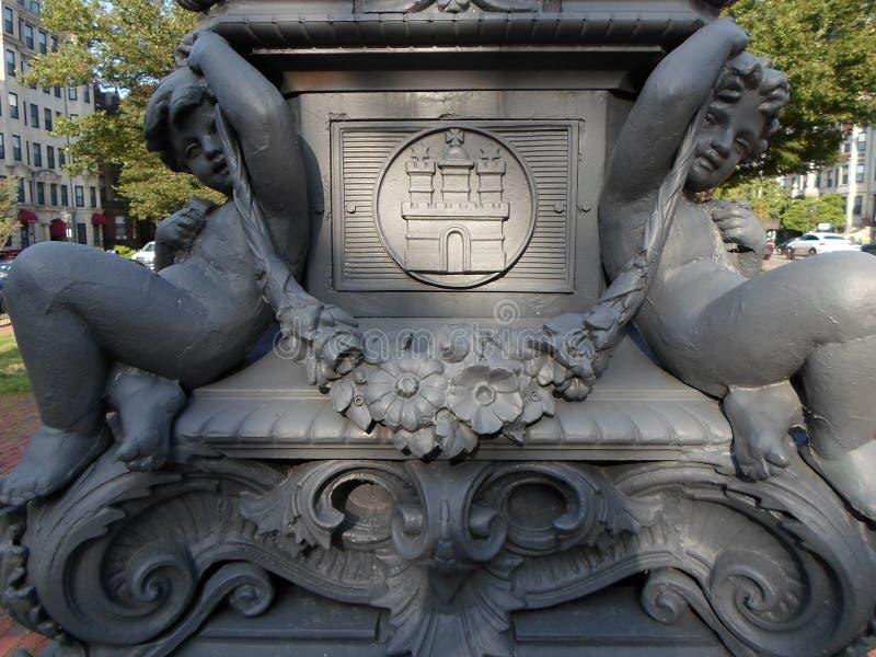 Park in Kenmore Square, Boston, Massachusetts, de V.S. royalty-vrije stock foto's